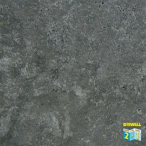 Concrete Dark Grey Matt 600mm PVC Wall Panel