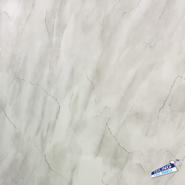 Light Grey Marble Gloss 5mm Bathroom Wall Panel
