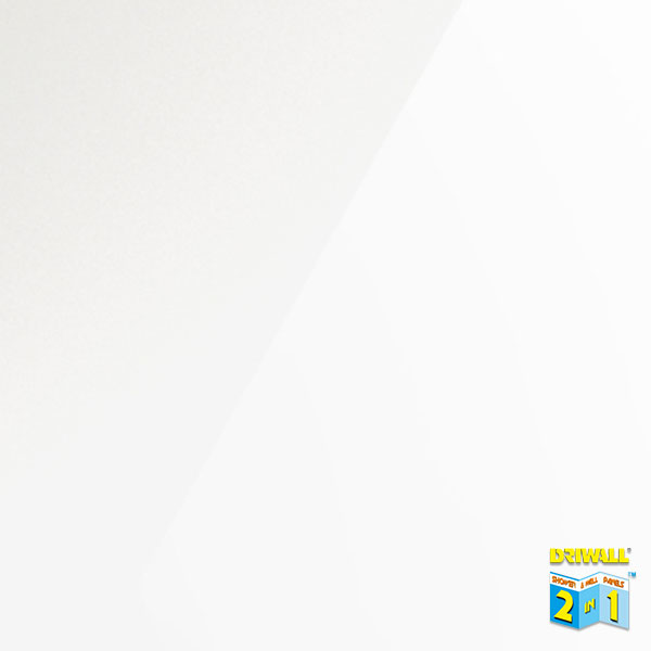 White Gloss 600mm PVC Wall Panel