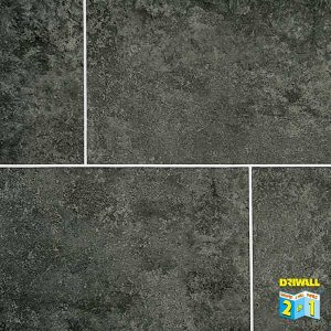 Dark Grey Stone Tile 600mm PVC Wall Panel