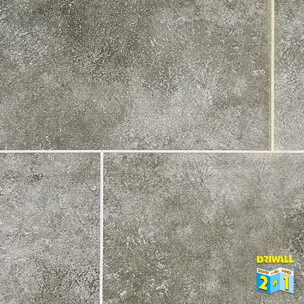 Grey Stone Tile Matt 600mm PVC Wall Panel
