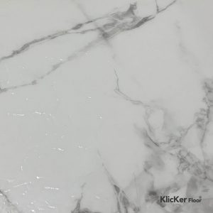 Carrara White Marble Klicker Floor
