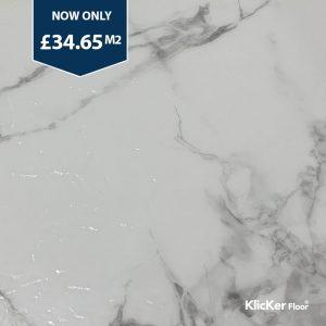 Carrara White Marble SPC Vinyl Flooring